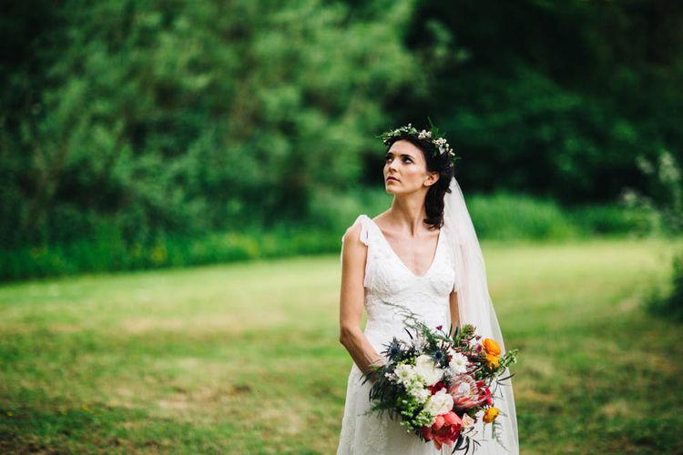 Bride in Jesús Peiró Bridal Gown
