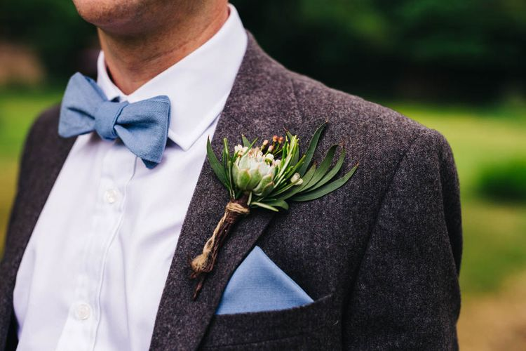 Grooms Bow Tie & Buttonhole