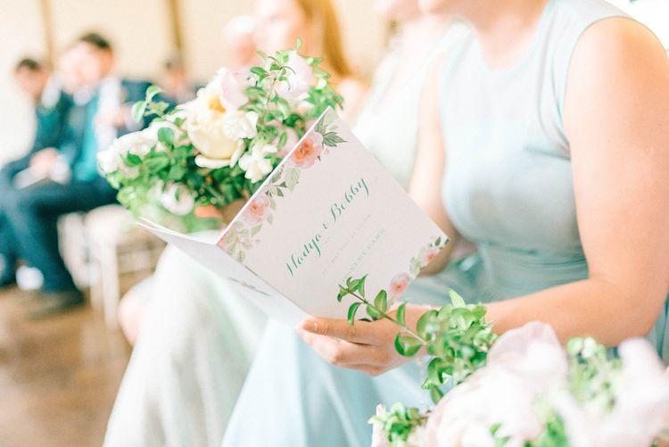 Wedding Stationery   Pastel Spring Wedding at Loseley Park Barn   Sarah-Jane Ethan Photography   Captured Media Weddings Film