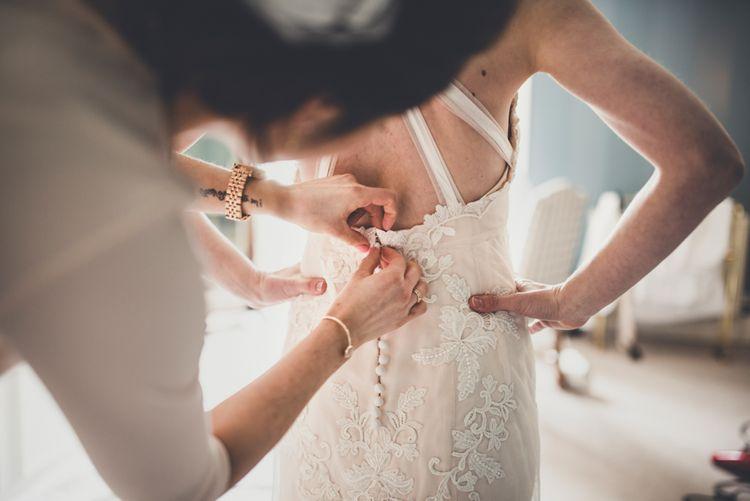 Bride Getting Ready on Wedding Morning