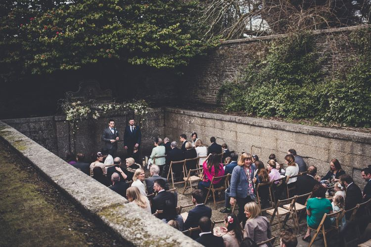 Ceremony In Old Pool Area At Boconnoc Cornwall