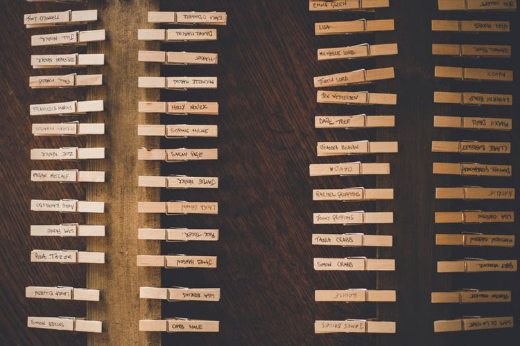 Table Plan With Pegs