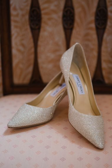 Jimmy Choo Shoes | Beautiful Classic Wedding at Cornwell Manor | Lucy Davenport Photography