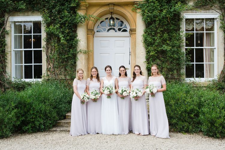 Bridesmaids in Pink ASOS Dresses | Beautiful Classic Wedding at Cornwell Manor | Lucy Davenport Photography
