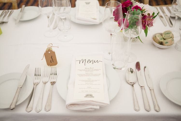 Place Setting | Beautiful Classic Wedding at Cornwell Manor | Lucy Davenport Photography