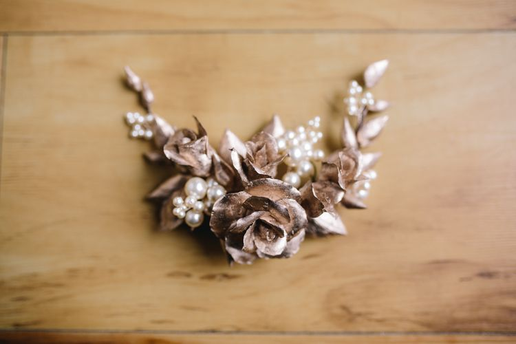 Hand Crafted Floral Headpiece For Bride