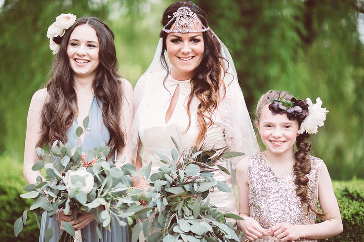 Pampas Grass Wedding With Autumnal Colour Palette & Bride In Sanyukta Shrestha With Feather Cape & Images From Lemonade Pictures