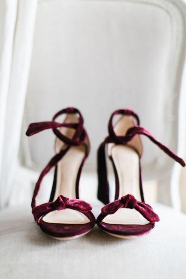 Red Velvet Wedding Shoes