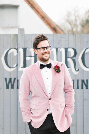 Groom In Pink Burberry Jacket