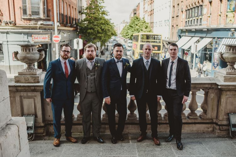 Groomsmen at City Hall Dublin Wedding Ceremony | Antonija Nekic Photography
