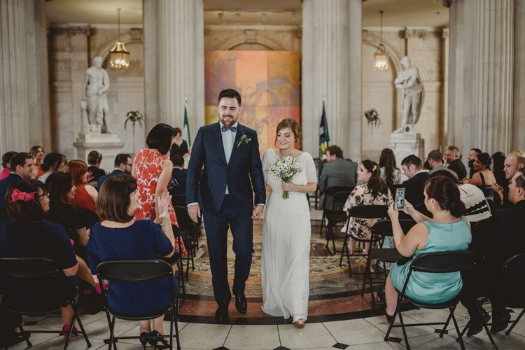 City Hall Dublin Wedding Ceremony | Bride in Saja Wedding Dress | Antonija Nekic Photography