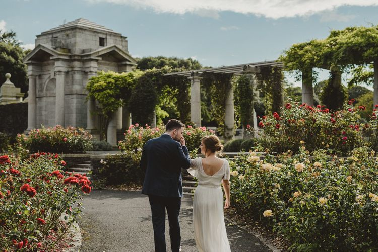 Bride in Saja Wedding Dress | War Memorial Gardens and Phoenix Park Dublin | Antonija Nekic Photography