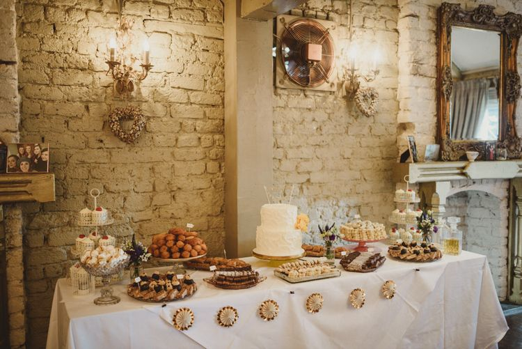 Dessert Table | Intimate Anglers Rest Pub Wedding Reception | Antonija Nekic Photography