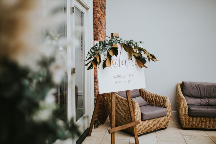 Elegant Welcome Sign For Wedding Guests