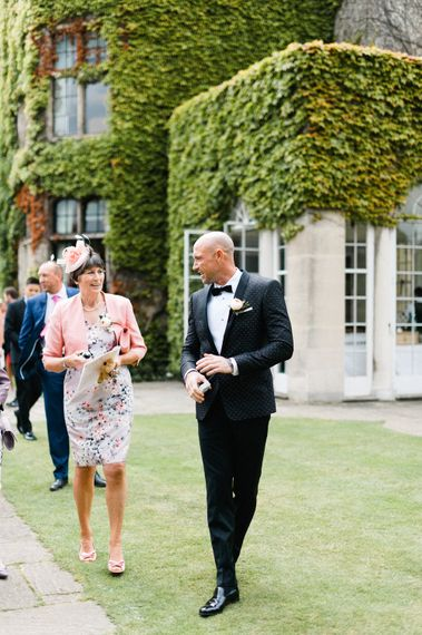 Groom in Dolce & Gabbana Suit   Outdoor Blush Flower Filled Wedding at Pennyhill Park, Surrey Planned by Something Blue Weddings   Anushe Low Photography   Reel Weddings Film