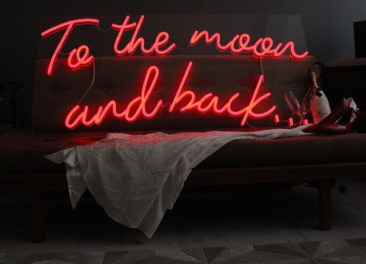 To The Moon And Back... Neon Sign by Bag & Bones