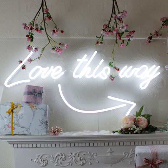 Love This Way // Neon Sign For Wedding