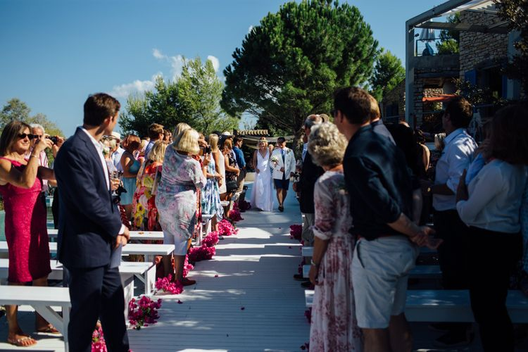 Ceremony | Outdoor Greek Destination Wedding at The Peligoni Club | Lucy Turnbull Photography