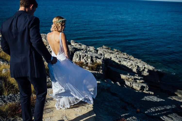 Bride & Groom | Outdoor Greek Destination Wedding at The Peligoni Club | Lucy Turnbull Photography