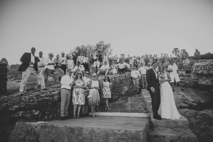 Wedding Guests | Outdoor Greek Destination Wedding at The Peligoni Club | Lucy Turnbull Photography