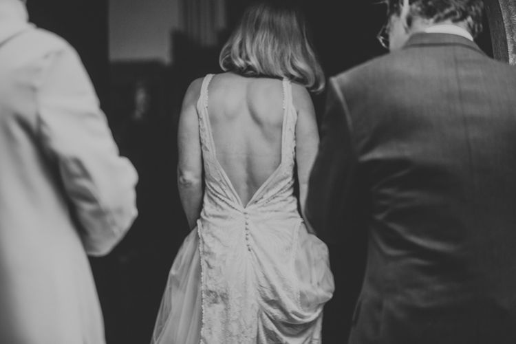 Bespoke Wedding Dress by Adam Dixon Made Using Material from Mothers Vintage Bridal Gown | Lucy Turnbull Photography