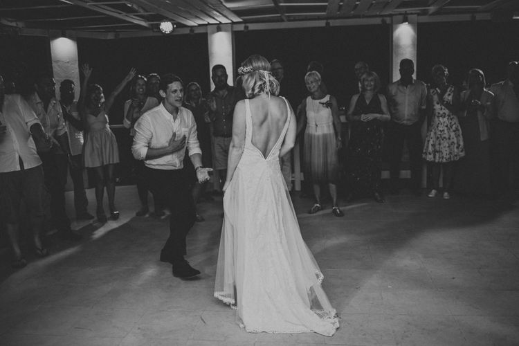 First Dance | Bride & Groom | Outdoor Greek Destination Wedding at The Peligoni Club | Lucy Turnbull Photography