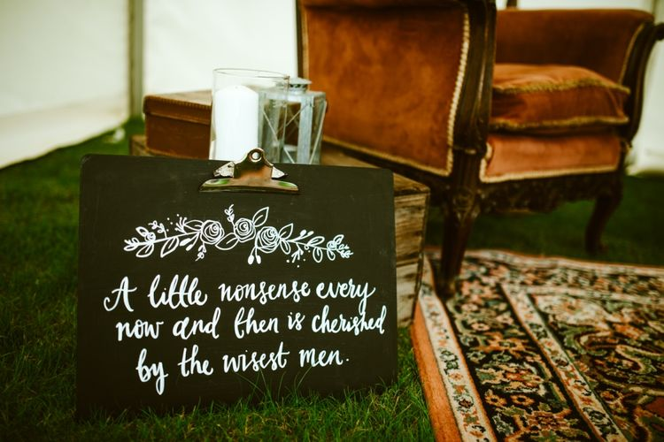 Wedding Signage For Festival Wedding