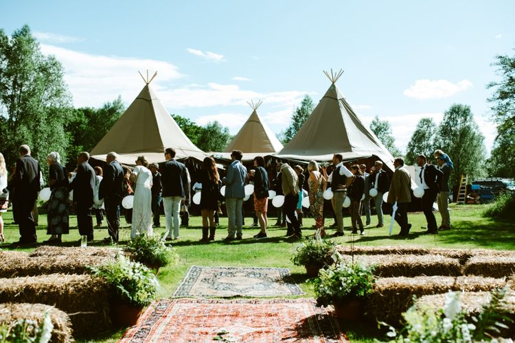 Festival Inspired Wedding At Browning Bros Essex
