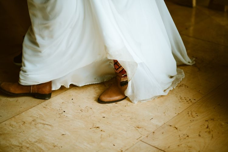 Bride in Brown Boots