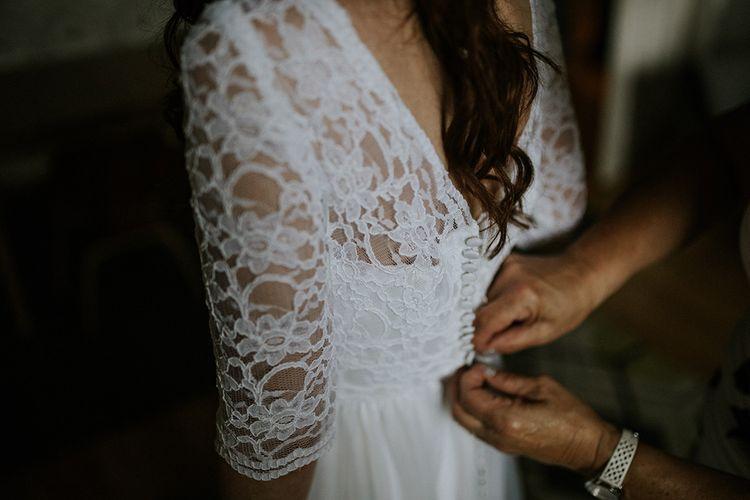 Gettinhg ready | The dress | Glasgow, West End Wedding | Cottiers Glasgow | Chris Barber Photography