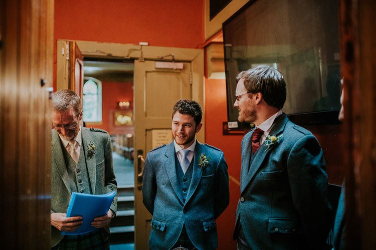Waiting for the Bride | Glasgow, West End Wedding | Cottiers Glasgow | Chris Barber Photography