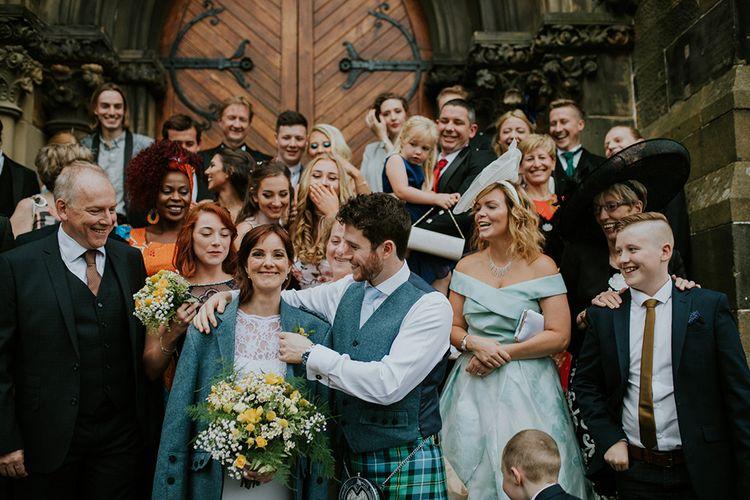 Group Shot | Glasgow, West End Wedding | Cottiers Glasgow | Chris Barber Photography