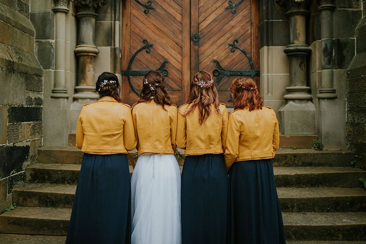 The Bride and her Bridesmaids | Glasgow, West End Wedding | Cottiers Glasgow | Chris Barber Photography