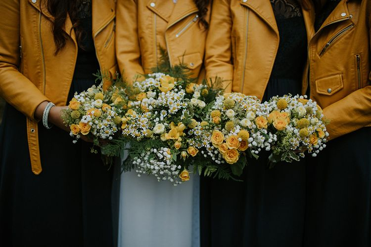 Yellow details | Glasgow, West End Wedding | Cottiers Glasgow | Chris Barber Photography