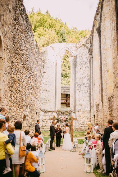 Outdoor Ceremony at Ruin Monastery Žiče Charterhouse in Slovenia