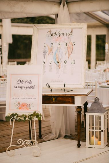 Wedding Welcome & Table Plan Signs