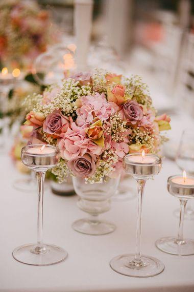Blush Pink Floral Centrepieces