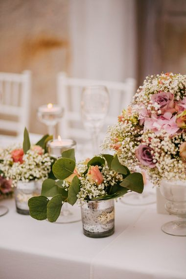 Blush Pink Flower Table Centrepieces