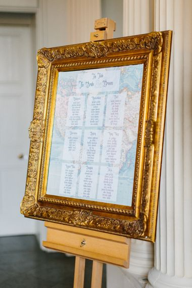 Table Plan With Gold Frame