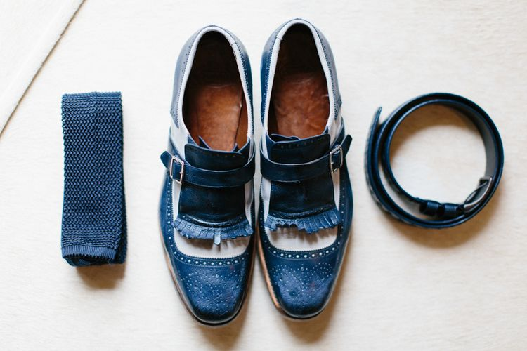 Blue Suede Shoes For Groom by Church's