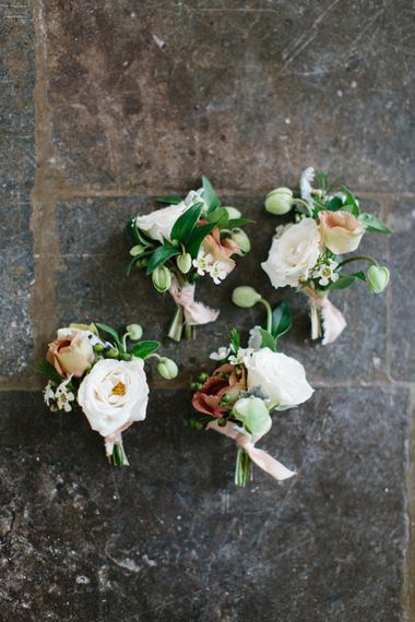 Floral Buttonholes For Groomsmen