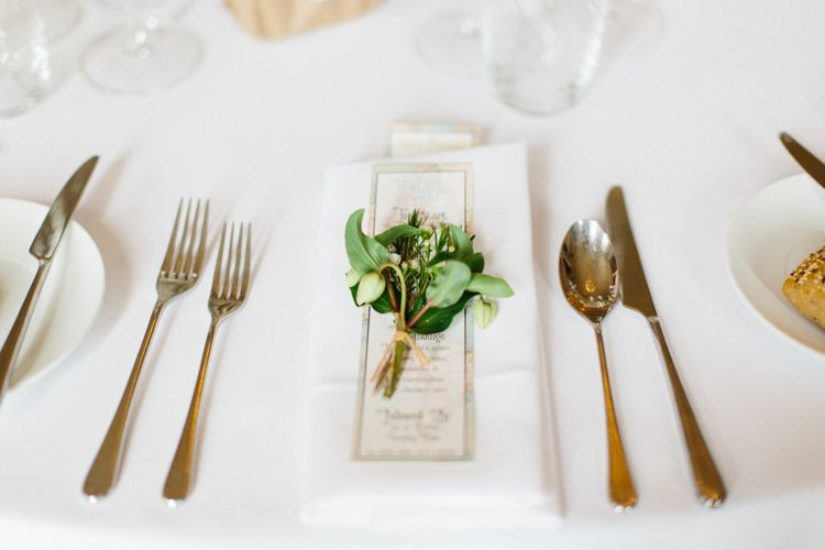 Place Setting With Floral Corsage