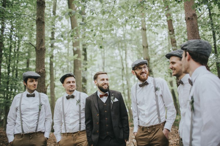 Groomsmen in Braces & Bow Ties