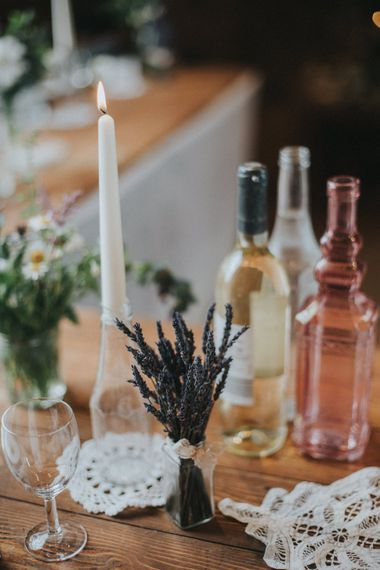 Dried Lavender Springs Wedding Decor