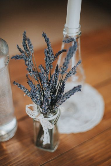Dired Lavender Sprigs in Jars