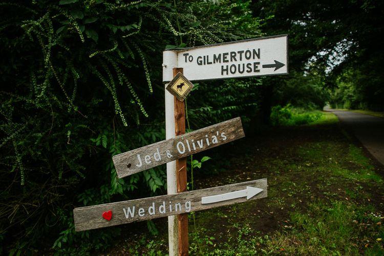 Wooden Wedding Signage