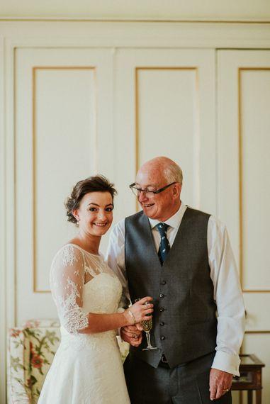 Bride in Bespoke Wedding Dress