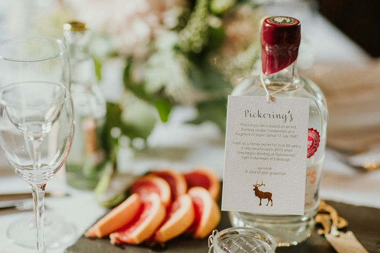 Gin Table Centrepieces For Wedding