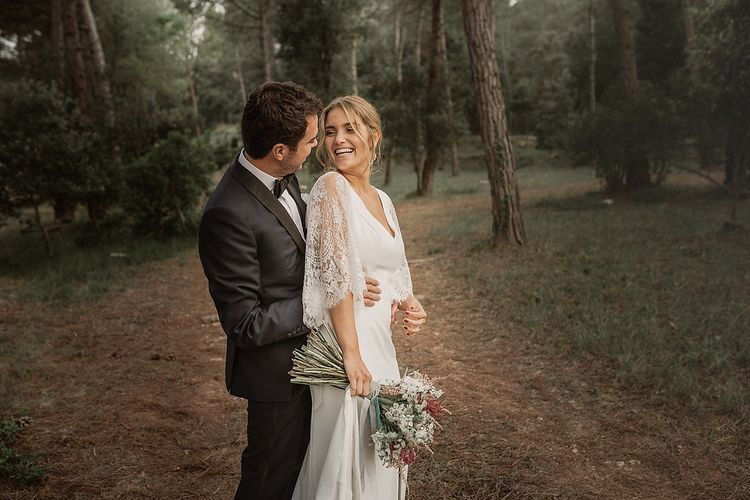 Bride In Rosa Clara Wedding Dress // Bohemian Festival Wedding In Large Glasshouse In Spain With Outdoor Ceremony And Pampas Grass Planning & Styling By La Puta Suegra Images By Pablo Laguia