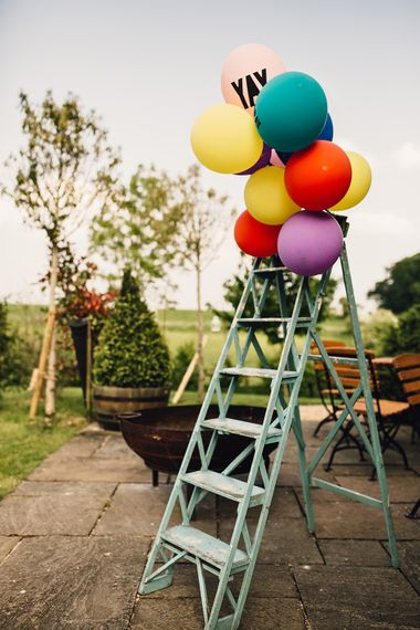 Ladder & Balloon Decor For Weddings